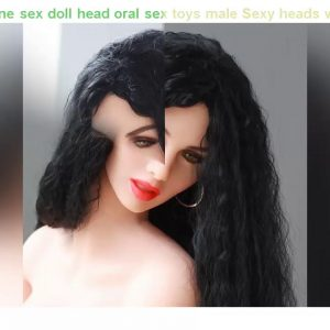 Cheap! #84 silicone sex doll head oral sex toys male Sexy heads with teeth